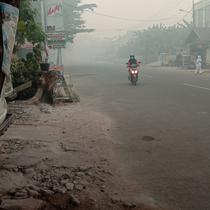 Akibat kabut asap yang seperti ini, Ivana, Paskibraka Nasional 2019 harus libur sekolah lagi selama satu minggu (Foto: Ivana Maria Suilyn Tangkere, Paskibraka Nasional 2019)