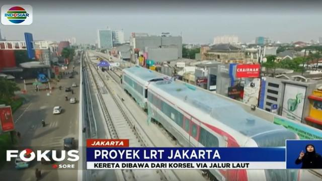 Nantinya, sebanyak delapan set Kereta LRT akan digunakan untuk menunjang aktivitas warga.