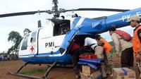 PMI operasikan helikopter untuk korban banjir di wilayah terisolasi di Lebak dan Bogor. (Foto: Dok Tim Media JK)