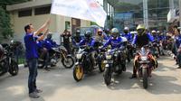 Pelepasan touring Jambore 1 Dekade Yamaha Vixion. (YIMM)