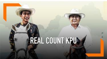 KPU terus melakukan rekapitulasi suara pilpres dan pileg 2019. Hasil sementara real count KPU menunjukkan pasangan Jokowi-Ma'ruf masih mengungguli Prabowo-Sandiaga.