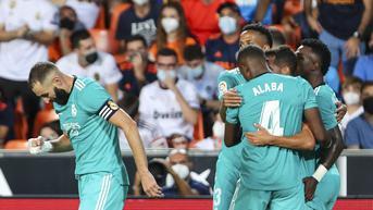 FOTO: Real Madrid Tundukkan Valencia di Lanjutan Liga Spanyol
