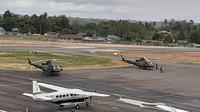 lima armada helikopter dan pesawat digunakan bantu pencarian helikopter MI-17.  (Liputan6.com/Ktahrina Janur/Kodam Cenderawasih)