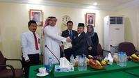 Penandatanganan Kontrak Layanan Transportasi Haji. Dok Kementerian Agama