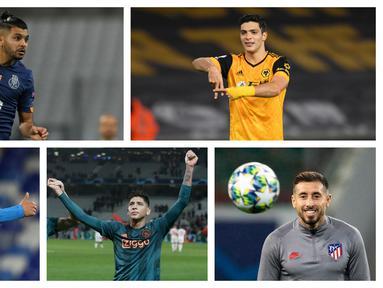 Sejumlah pemain dengan kewarganegaraan meksiko yang merumput di liga-liga top Eropa. (Foto: AP)
