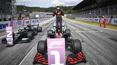 Foto Formula 1: Verstappen Semakin Tak Tergoyahkan setelah Menangi Balapan Ketiganya Secara Beruntun