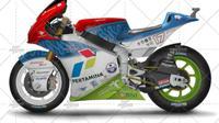 Rencana livery motor Mandalika Racing Team di kelas Moto2 2021. (Istimewa)