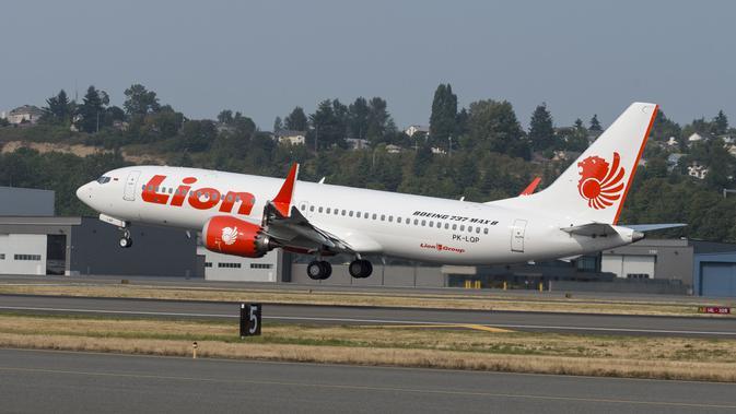 Pesawat Lion Air yang jatuh regitrasi PK-LQP jenis Boieng 737 MAX 8 jatuh di Kawarang. (Humas Lion Air)