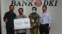 Bank DKI memberikan bantuan modal usaha kepada 11 purna bhakti atau pensiunan Bank DKI.