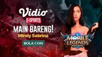 Mindy Sabrina akan mengajak bermain bareng Mobile Legends : Bang Bang pada Kamis (5/3/2020), dari pukul 18.00 WIB sampai dengan 21.00 WIB.