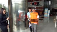 Kalapas Sukamiskin Wahid Husen usai pemeriksaan di Gedung KPK, Kuningan, Jakarta Selatan, (Senin, 23/7/2018)