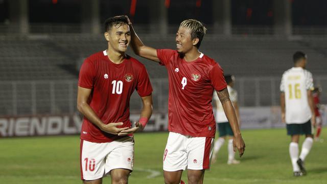 Laga Uji Coba Timnas Indonesia melawan Tira Persikabo