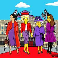 Sederet potret Meghan Markle dan anggota keluarga kerajaan dalam karakter The Simpsons.