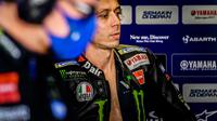 Pembalap Monster Energy Yamaha, Valentino Rossi. (AFP/PATRICIA DE MELO MOREIRA)
