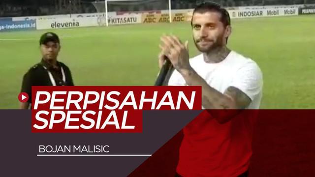 Berita video momen perpisahan Bojan Malisic dengan Bobotoh Persib Bandung berlangsung spesial di Stadion Si Jalak Harupat, Jumat (30/8/2019).