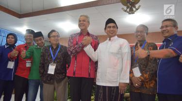 Diantar Partai Pengusung, Ganjar Pranowo-Taj Yasin Resmi Daftar Pilkada Jateng