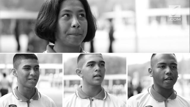 Selain jago baris berbaris, empat orang Paskibraka Nasional 2017 ini juga tercatat sebagai atlet berprestasi di provinsi masing-masing