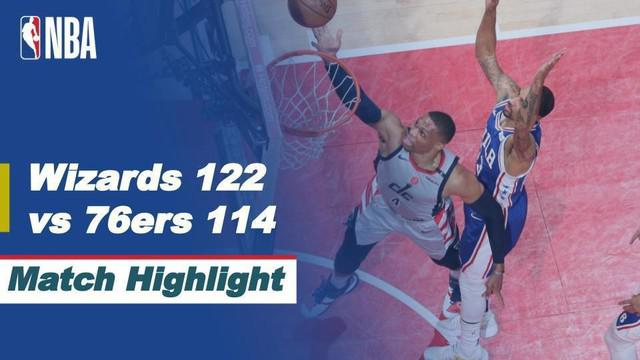 Berita video highlights NBA Playoffs pertandingan antara Washington Wizards melawan Philadelphia 76ers, Selasa (1/5/2021).
