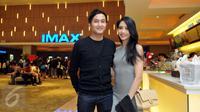 Pasangan selebriti, Ririn Dwi Ariyanti dan Aldi Bragi ketika ditemui di premiere film Terminator Genisys di Gandaria City XXI, Jakarta, Rabu (24/6/2015). Terminator Genisys menceritakan tentang kehidupan di tahun 2029.(Liputan6.com/Panji Diksana)