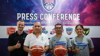 Konferensi pers menjelang Srikandi Cup 2018-2019 di GOR Merpati Bali, Denpasar, Minggu (25/11/2018). (Humas Srikandi Cup)