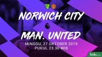 Premier League - Norwich City Vs Manchester United (Bola.com/Adreanus Titus)