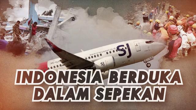 Indonesia tengah berduka, dalam sepekan di awal tahun 2021 dilanda musibah dan bencana alam.