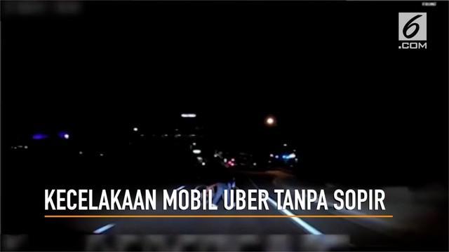 Polisi Arizona merilis video tabrakan antara mobil nir awak Uber dan wanita pejalan kaki.