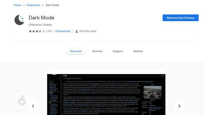 Ekstensi Dark Mode untuk Google Chrome