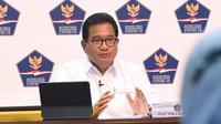 Juru Bicara Satgas COVID-19 Wiku Adisasmito menegaskan demi memperjuangkan keselamatan dokter, Satgas membentuk tim khusus saat konferensi pers di Kantor Presiden, Jakarta, Selasa (22/12/2020). (Biro Pers Sekretariat Presiden)