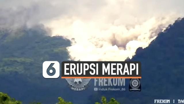 Aktivitas Gunung Merapi terpantau tinggi hari Rabu (27/1). Tercatat 36 kali luncuran awan panas terlihat dari puncak gunung.