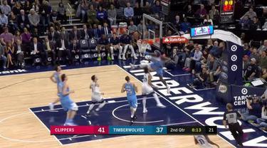 Berita video game recap NBA 2017-2018 antara Minnesota Timberwolves melawan LA Clippers dengan skor 123-109.