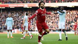 2. Mohamed Salah (Liverpool) - 23 Gol (1 Penalti). (AFP/Oli Scarff)