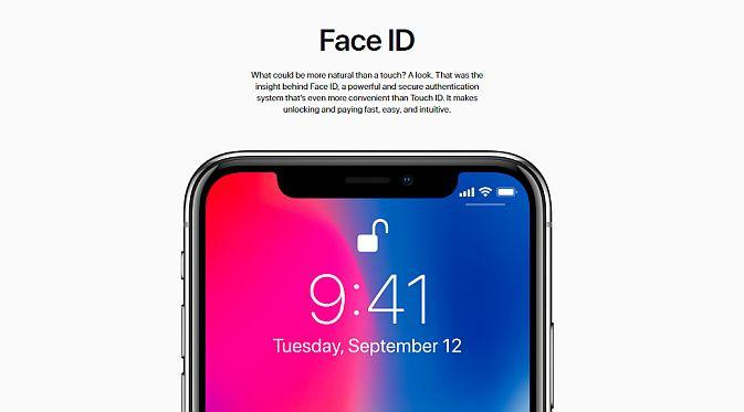 Fitur Face ID menggentikan Touch ID (Foto: Apple)