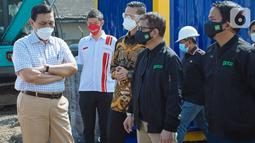Rumah Oksigen Gotong Royong inisiasi GoTo, KADIN dan PT Aneka Gas Industri Tbk (Samator Group) yang berlokasi di Pulogadung Jakarta merupakan rumah kesehatan semi-permanen pertama di Indonesia yang dilengkapi dengan peralatan suplai oksigen dan tempat tidur perawatan. (Liputan6.com/HO/Ading)