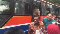 Gubernur DKI Jakarta Djarot Saiful Hidayat, di Balai Kota DKI Jakarta, Selasa (18/7/2017). (Liputan6.com/Delvira Chaerani Hutabarat)