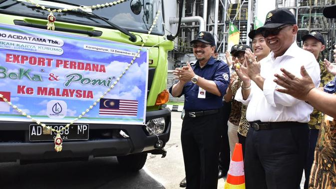 SRSN Kementan Lepas Ekspor Perdana Pupuk Organik Cair Jateng ke Malaysia - Bisnis Liputan6.com