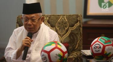 Ma'ruf Amin Berencana Bagikan Bola Saat Kunjungi Daerah