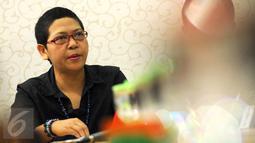 Wakil Ketua Internal Komnas HAM, Siti Nurlaila memberikan pernyataan terkait konflik tambang Lumajang di gedung Komnas HAM, Jakarta, Senin (28/9/2015). Sebelumnya, pada 26 September lalu, konflik pertambangan di Lumajang. (Liputan6.com/Helmi Fithriansyah)