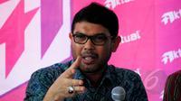 Anggota Komisi III DPR RI Nasir Djamil saat menjadi pembicara dalam diskusi 'Remisi dalam Perspektif Penegakan Hukum, HAM, dan Pemberantasan Korupsi' di Jakarta, Minggu (29/3/2015). (Liputan6.com/Yoppy Renato)