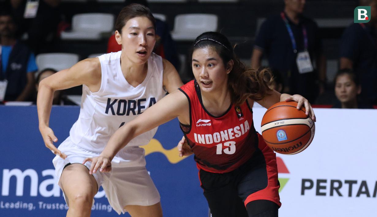 FOTO Tim Basket Putri Indonesia Dipermalukan Korea Bersatu