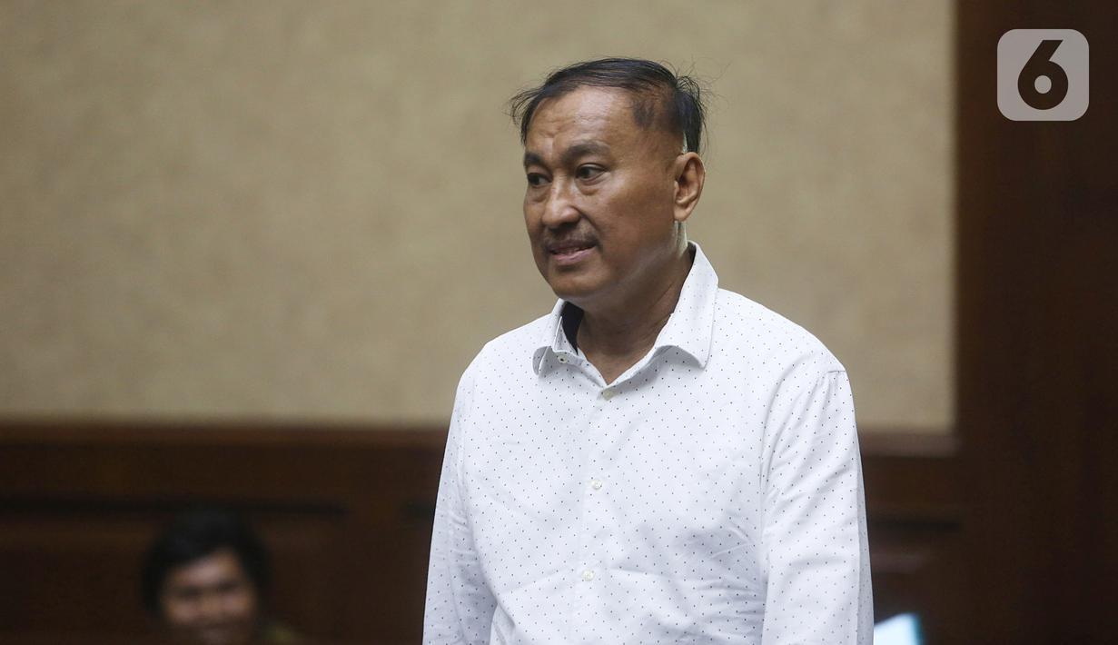 Terdakwa kasus korupsi proyek KTP Elektronik Markus Nari menjalani sidang lanjutan di Pengadilan Tipikor, Jakarta, Senin (28/10/2019). Sidang tersebut beragenda tuntutan dari JPU, Markus Nari dituntut 9 tahun dan denda Rp 900 juta. (Liputan6.com/Herman Zakharia)