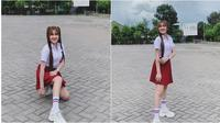 Nella Kharisma pakai baju sekolah (Sumber: Instagram/nellakharisma)