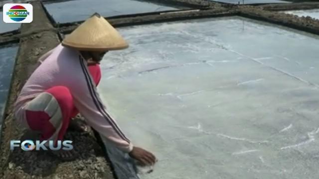 Pemilik ladang garam saat ini bisa dijual dengan harga Rp 5.000 per kilogramnya.