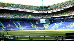 Foto yang diabadikan pada 10 Agustus 2020 ini memperlihatkan pemandangan Stadion Luz di Lisbon, Portugal, dua hari jelang pertandingan perempat final Liga Champions UEFA. (Xinhua/Pedro Fiuza)