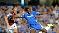Romelu Lukaku saat masih berseragam Chelsea. (OLLY GREENWOOD / AFP)