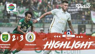 Babak Penyisihan #ShopeeLiga1 yang mempertemukan #Persebaya Surabaya vs #PSS Sleman pada hari Selasa sore (29/10/2019) dengan skor...