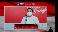 Menteri Kesehatan RI Terawan Agus Putranto melakukan konferensi pers terkait kedatangan vaksin Corona Sinovac pada Senin, 7 Desember 2020 di Jakarta. (Kementerian Kesehatan RI)