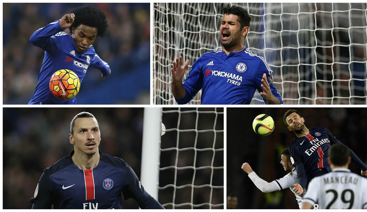 Paris Saint-Germain akan bertarung melawan Chelsea pada leg pertama babak 16 besar Liga Champions. Berikut 10 pemain yang diprediksi akan jadi penentu pada laga big match tersebut.