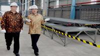 Menteri Perindustrian (Menperin) Airlangga Hartarto meresmikan pabrik baja PT Krakatau Osaka Steel (KOS) di Cilegon, Jawa Barat. (Dok Humas Kemenperin)