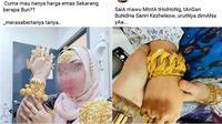Status emak-emak pamer emas (Sumber: Twitter/RecehNyaFacebok)